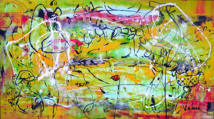 Love of the past - Painting,  125x70x2 cm ©2018 by Oksana Veber -                                                            Abstract Expressionism, Canvas, Abstract Art, sea, nature, freedom, history, ancient glass