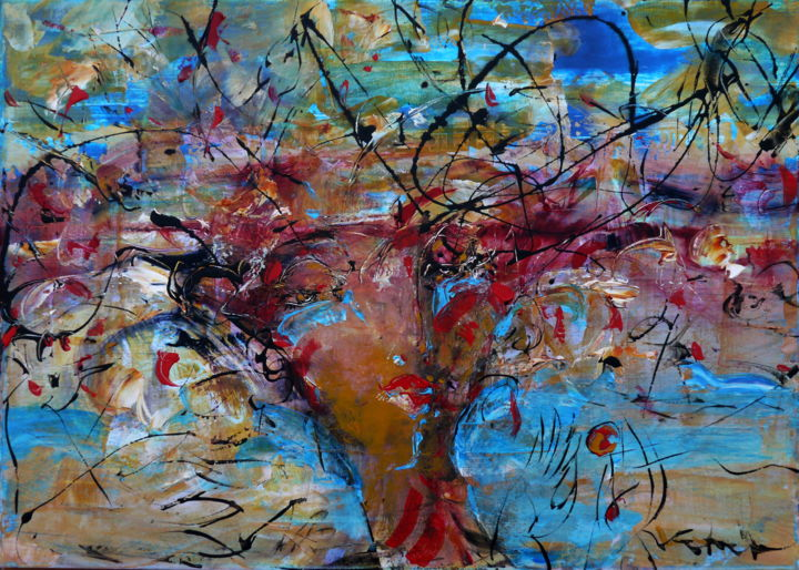 Painting, acrylic, abstract, artwork by Oksana Veber
