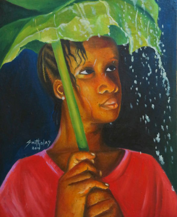 Rain effect painting by olaoluwa smith artmajeur