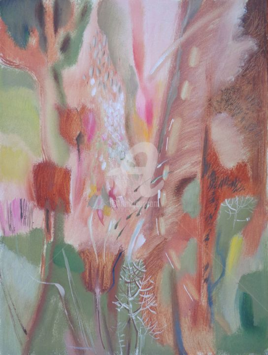 April.Tulips.jpg - Painting,  31.5x23.6x0.2 in, ©2016 by Olga Bagina -                                                                                                                                                                                                                                                                                                                                                                                                                                                                                                                                                                                                                                                                                                                                  Abstract, abstract-570, Other, Fantasy, Flower, Seasons, Abstract Art, Garden, Flowers, Seasons, Fantasy, Abstract, original, Painting, April