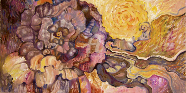 Mystery of the yellow rose - © 2008 original, painting, rose, oil, canvas Online Artworks