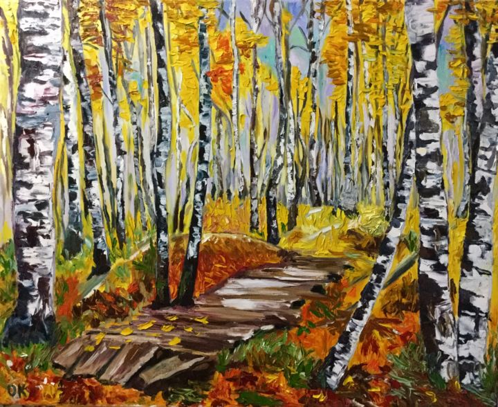 Autumn song Painting by Olga Koval | Artmajeur