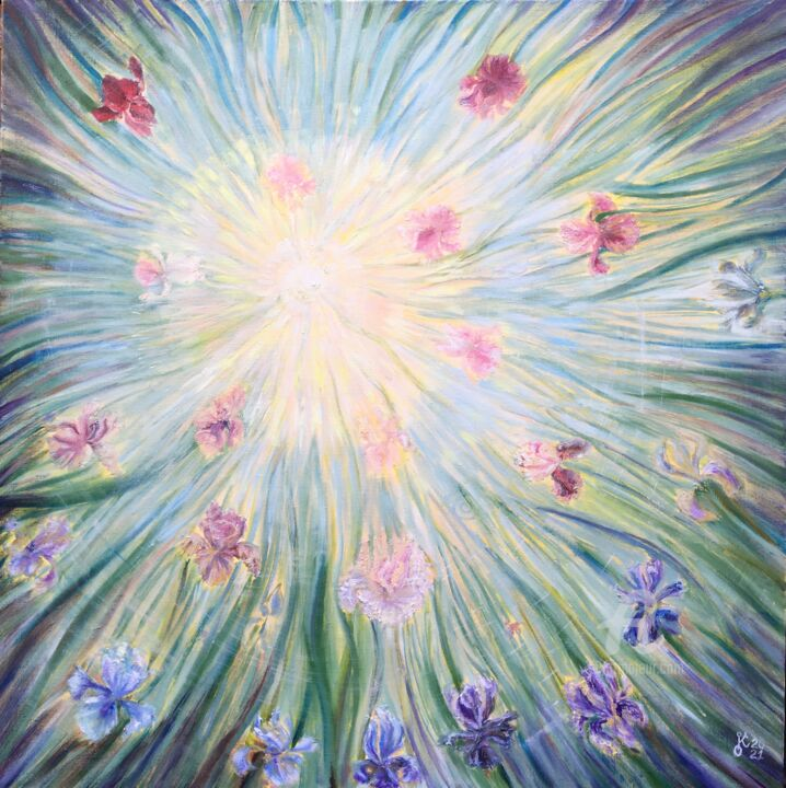 """Painting titled """"Spring Solstice"""" by Olha Kizub, Original Art, Oil"""