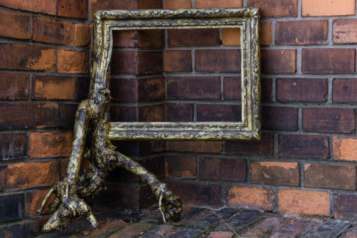 """Sculpture titled """"Abstract Frame-unic…"""" by Oliver, Original Art, Wood"""