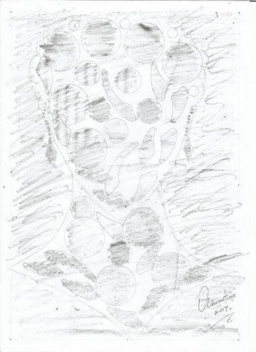 """Drawing titled """"design-003.jpg"""" by Olivecreations, Original Art, Pencil"""