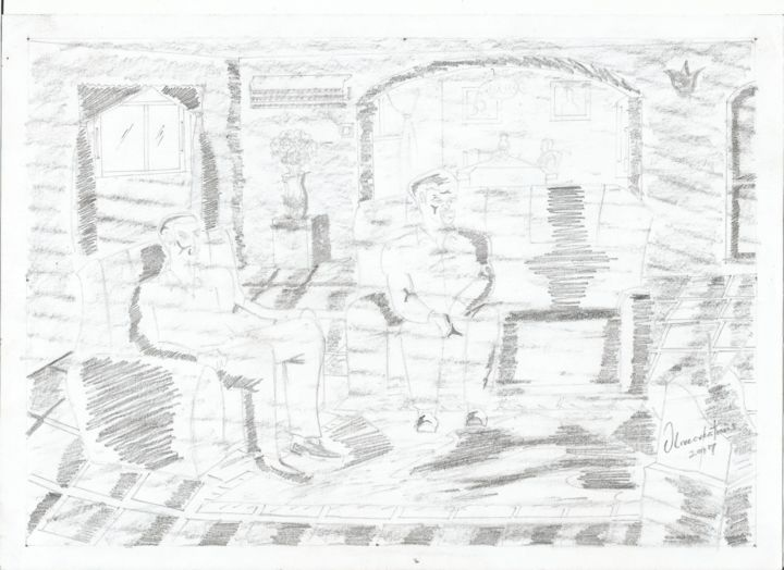 """Drawing titled """"design-008.jpg"""" by Olivecreations, Original Art, Pencil"""