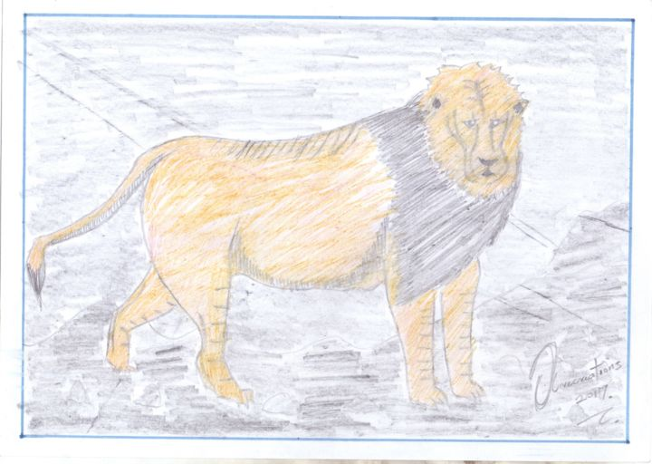 """Drawing titled """"wildlife"""" by Olivecreations, Original Art, Pencil"""