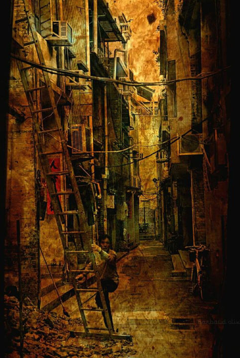 """Photography titled """"under costruction s…"""" by Olivier Barbaud, Original Art, Digital Photography"""