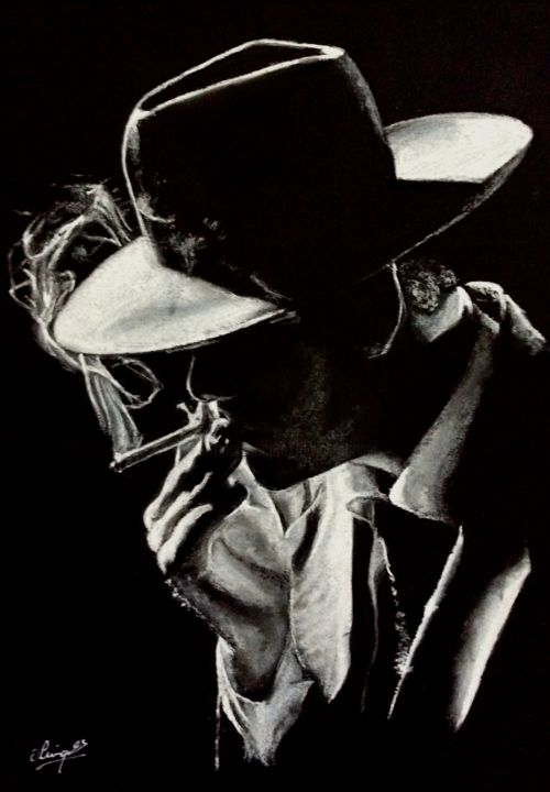 Hat light and thought drawing by olivier pringal artmajeur