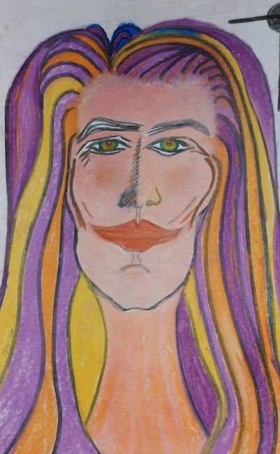 MONTRER - Drawing ©2007 by Oliverb -            Portrait-Couleurs-Visage