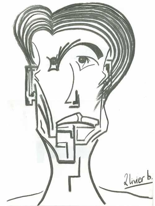 L EXILE I - Drawing,  30x42 cm ©2005 by Oliverb -                            Black and White, DESSIN FUSAIN