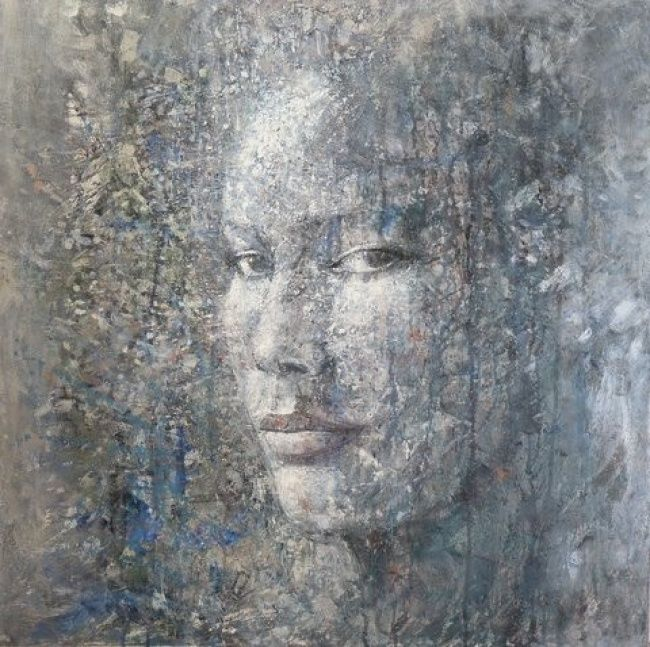 Painting,  80 x 80 cm ©2012 by Denorroy -  Painting