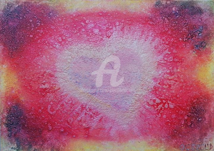 Miracle-heart ( Чудо-сердце ) - Painting,  11.7x16.5 in, ©2020 by Ol'Svol'D -                                                                                                                                                                                                                                                                  Abstract, abstract-570, olsvold, tsvetnosti, energyart