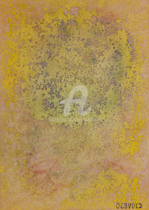 She can be yours - Painting,  16.5x11.7 in, ©2020 by Ol'Svol'D -                                                                                                                                                                                                                                                                  Abstract, abstract-570, olsvold, tsvetnosti, energyart
