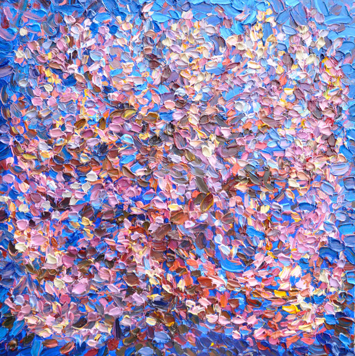 100х100 Blooming tree Цветущее дерево - Painting,  100x100x3 cm ©2019 by Ольга Бежина -                                                                                                                                                                                                                                                                                    Abstract Art, Abstract Expressionism, Figurative Art, Impressionism, Trompe-l'œil, Expressionism, Canvas, Abstract Art, Botanic, Seasons, Time, Geometric, Tree, Spirituality, Health & Beauty, Outer Space, Music, Landscape, Nature, Light, Colors, USA, Luxembourg, Qatar, Hartford, Oslo, Chicago, Boston, Washington, Copenhagen, Denmark, Mexico, купить искусство, AUSTRALIA AND OCEANIA, Lord Howe, Melbourne, Sydney, Nauru, ASIA, Brunei, Bhutan, Vietnam, India, Agra, Varanasi, Delhi, Mumbai, Indonesia, China, Hong Kong, Dalian, Macau, Beijing, Wuhan, Hangzhou, Zhengzhou, Chongqing, Shanghai, Korea, Seoul, Lebanon, Malaysia, United Arab Emirates, Abu Dhabi, Dubai, Pakistan, Saudi Arabia, Singapore, Thailand, Bangkok, Taiwan, Turkey, Istanbul, Philippines, Japan, Tokyo, AFRICA, Djibouti, Cameroon, Kenya, Madagascar, Morocco, Shaven, Namibia, Togo, Eritrea, Ethiopia, Europe, Latvia, Riga, Austria, Vienna, Hallstatt, Belgium, Aalst, Binsh, Bulgaria, Sofia, Bosnia and Herzegovina, Blagaj, Vatican, Great Britain, England, Greenwich, London, Salisbury, Scotland, Edinburgh, Hungary, Budapest, Germany, Bavaria, Berlin, Dusseldorf, Cologne, Munich, Nuremberg, Frankfurt, Greenland, Illocortoormiet, Greece, Athens, Crete, Adele, Georgia, Tbilisi, Ireland, Spain, Bilbao, Las Palmas, Madrid, Segovia, Italy, Venice, Genoa, Cracow, Procida, Rome, Malta, Marsachlokk, Monaco, La Condamine, Monte Carlo, Netherlands, Amsterdam, New Zealand, Queenstown, Oakland, Norway, Tromso, Hammerfest, Portugal, Romania, San Marino, Slovakia, Ukraine, Kiev, Kharkov, France, Paris, Czech Republic, Croatia, Bohemia, Karlovy Vary, Moravia, Prague, Switzerland, Basel, Geneva, Zurich, Sweden, Stockholm, RUSSIA, Ekaterinburg, Moscow, Novosibirsk, Petersburg, Crimea, America, Arizona, Wyoming, Hawaii, Oahu, Colorado, Las Vegas, Los Angeles, Montana, New Orleans, New York, San Francisco, Florida, Miami, Miami Beach, Houston, Utah, Canada, Vancouver, Glendon, Toronto, Costa Rica, Argentina, Buenos Aires, Bolivia, Brazil, Angra dos Reis, Brasilia, Buzios, Manaus, Rio de Janeiro, Salvador, Paraguay, Chile, РОССИЯ, Санкт-Петербург, Новосибирск, Москва, лето, живопись мастихином, картина с видео, уникальная техника, живопись мазками, пуантилизм, buy art, summer, contemporary painting, Bezhina, весна, цветение дерева, цветущее дерево, цветение абрикоса, весенний пейзаж, pointillism, painting with palette knives, unique technique, painting with strokes, tempo-rhythmic painting, big paintings, large abstract, картина в интерьере, картина в лофт, картина в гостиную, картина в столовую, картина в детскую, flowers, a picture in the office, a picture in the interior, a picture with flowers, a picture in the living room, Spring, spring landscape, bloom, Blooming tree, apricot, apricot blossom, молодые художники, художник краснодар, перспективный художник