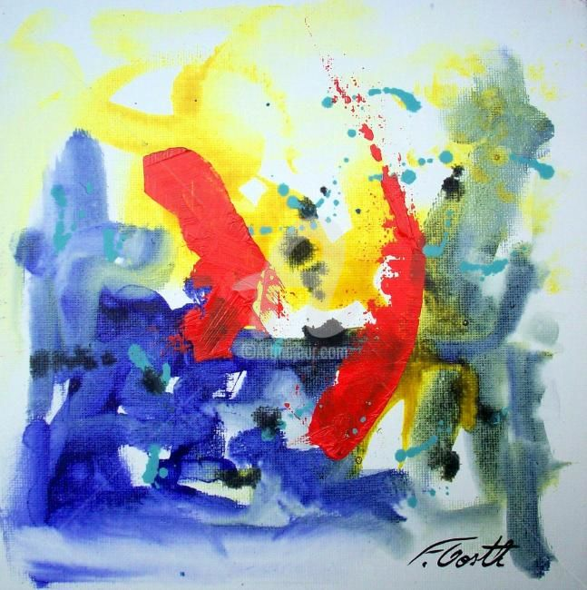 abstrait - Painting ©2012 by Florence Oosth -