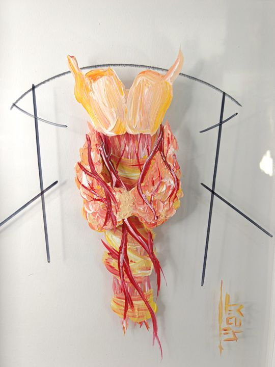 """Painting titled """"Pintura Anatomia: T…"""" by Opus Garden Gallery, Original Art, Acrylic Mounted on Other rigid panel"""