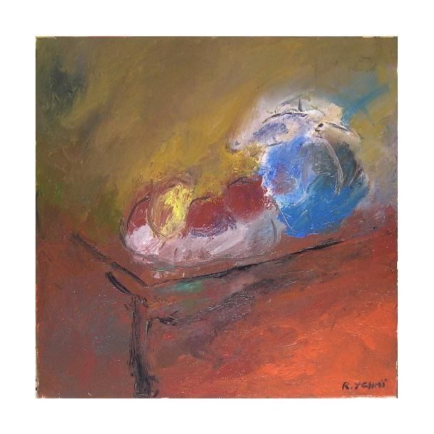 huile sur toile - Painting,  19.7x19.7 in, ©2005 by Jerusalmix -