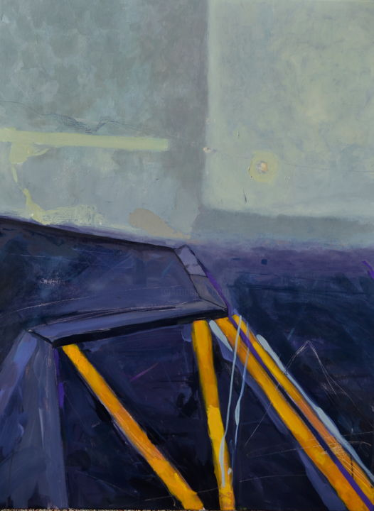 Horizon - Painting,  31.5x23.6x0.4 in, ©2020 by Oscar Torres Perez -                                                                                                                                                                                                      Cityscape, Cities, paysage urbain, ville