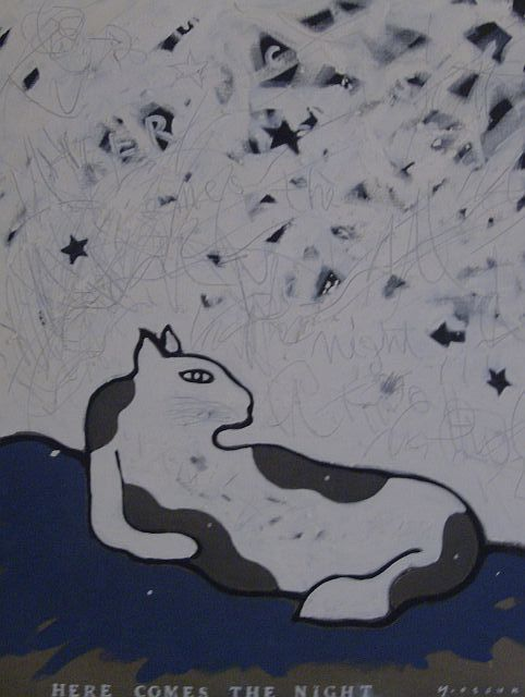 """Painting titled """"Here comes the night"""" by otsuki, Original Art,"""