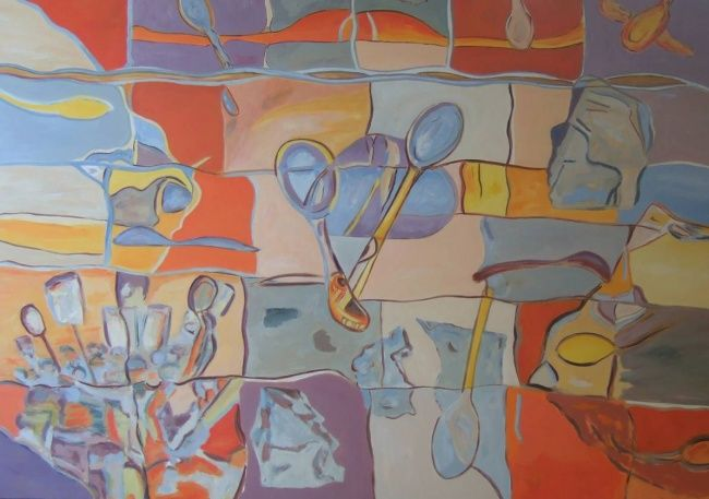 CCCCCCC - Painting,  38.2x44.9 in, ©2004 by Marblez -