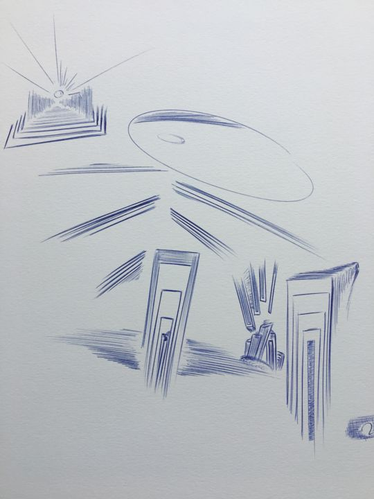 """Drawing titled """"no name"""" by Ozzi Uaan, Original Art, Ballpoint pen"""