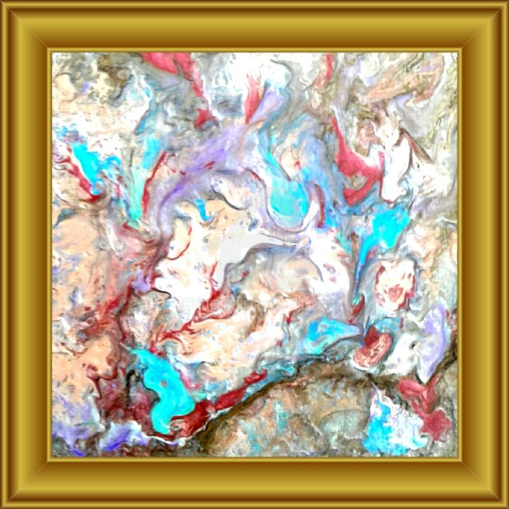 Mixed 1 - Painting,  20x20x2 cm ©2016 by Cya -                                                                        Abstract Art, Other, Canvas, Abstract Art, Art abstrait, Mixed media, Peintures abstrait