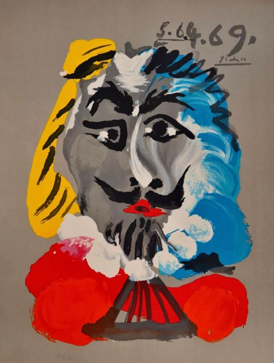 Printmaking, lithography, abstract, artwork by Pablo Picasso
