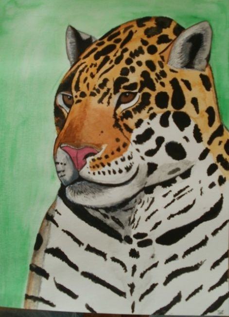 Guépard - Mixed Media,  24x32 cm ©2012 by ToF -