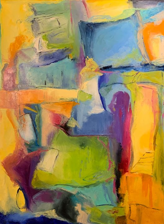 """Painting titled """"Untitled - 8471"""" by Betsy Cole, Original Art, Oil"""