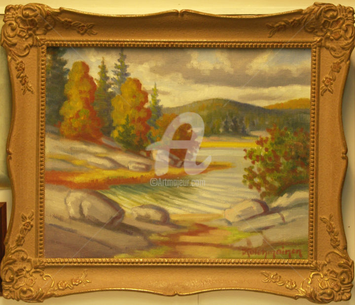 """Painting titled """"Landscape from Finl…"""" by Painters From Finland, Original Art, Oil"""
