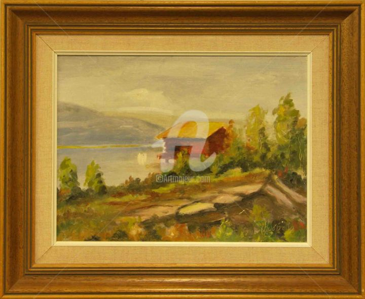 """Painting titled """"Landscape"""" by Painters From Finland, Original Art, Oil"""