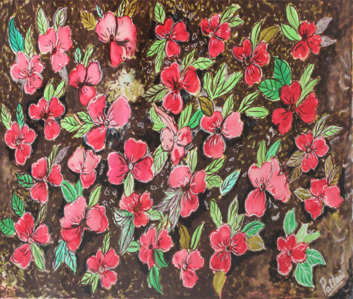 """Painting titled """"Small flowers"""" by Pallavi Sharma, Original Art, Watercolor"""