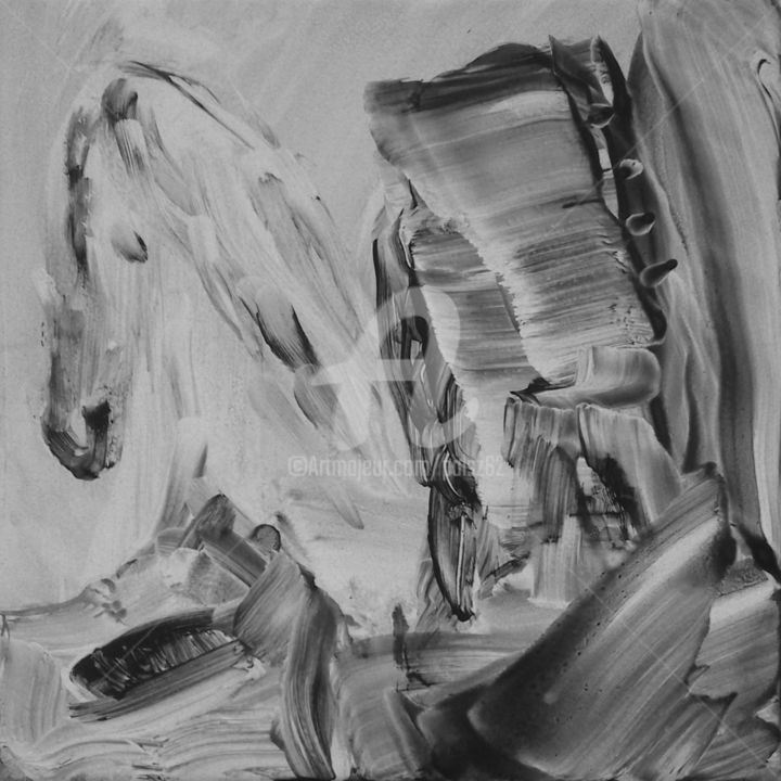Jabuchilo The White Horse Painting By Rajka Serbak Artmajeur