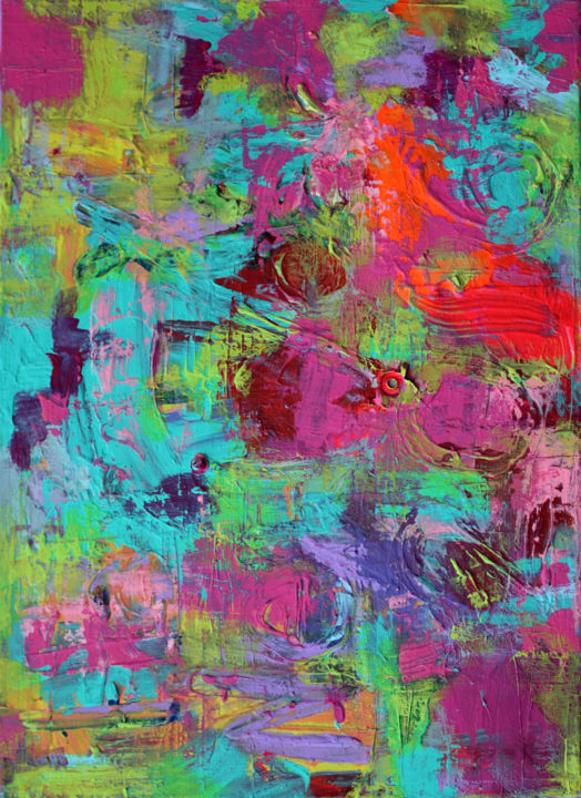 Matter Painting 58 - Painting,  40x30x2 cm ©2017 by Pamela Rys -                                                                                    Abstract Art, Abstract Expressionism, Contemporary painting, Canvas, Abstract Art, pamela rys, texture, arte, matter, matter painting