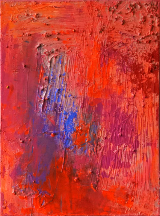 Matter Painting 48 - Painting,  40x30x2 cm ©2016 by Pamela Rys -                                                                                                            Abstract Art, Abstract Expressionism, Contemporary painting, Canvas, Abstract Art, Landscape, Outer Space, pamela rys, matter painting, abstract
