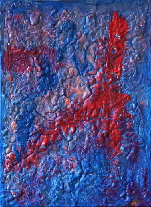 Matter Painting 57 - Painting,  40x30x2 cm ©2017 by Pamela Rys -                                                                                                            Abstract Art, Abstract Expressionism, Contemporary painting, Canvas, Abstract Art, Landscape, Outer Space, pamela rys, abstract, abstraction, matter painting