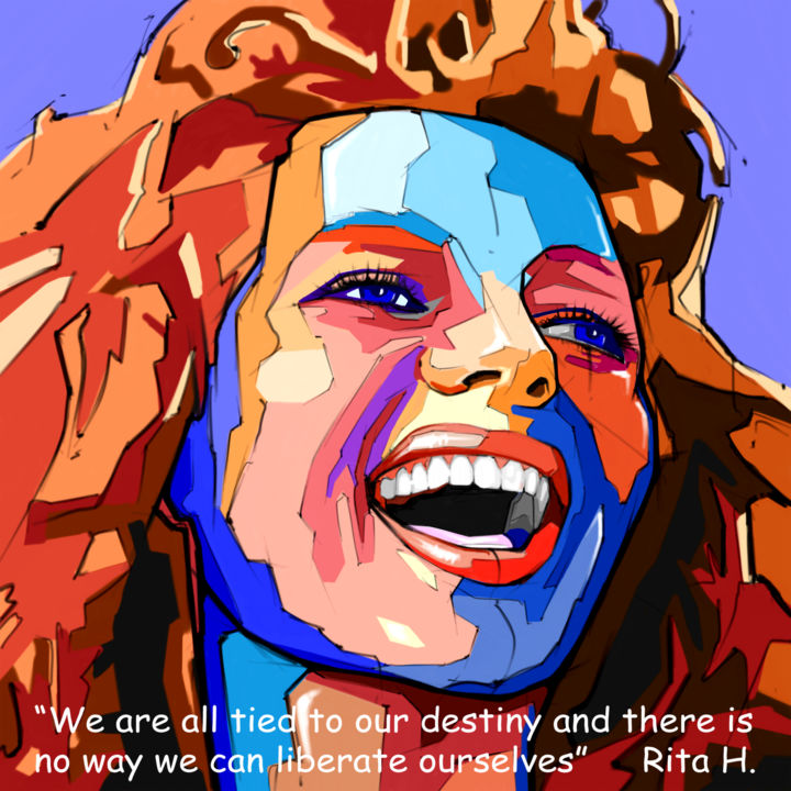 Rita...We are.jpg - Arte digitale, ©2015 da Paolo Luino -                                                                                                                                                          Donne, Rita Hayworth, Hayworth portrait