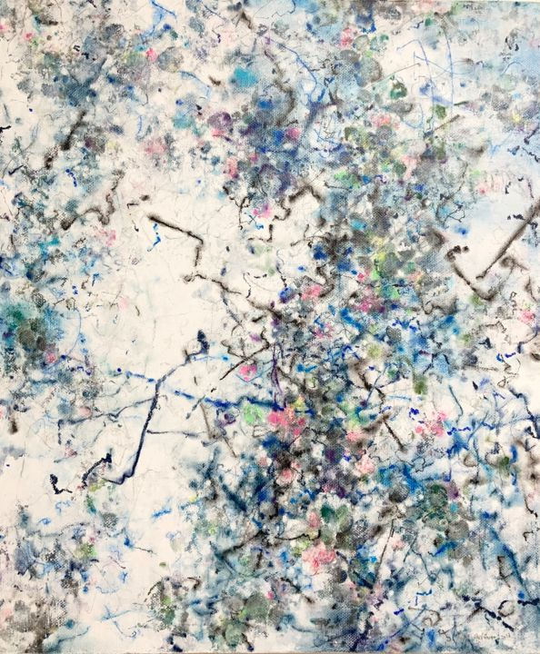 """Painting titled """"spring coming March"""" by Jiyou Piao, Original Art, Acrylic"""
