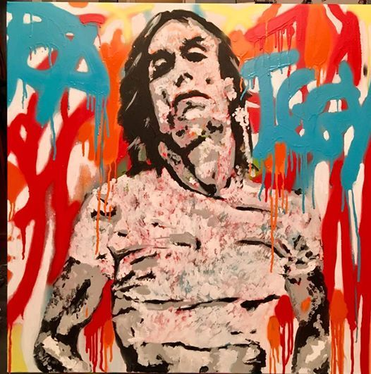 IGGY POP Painting by PASCAL PETIT | Artmajeur