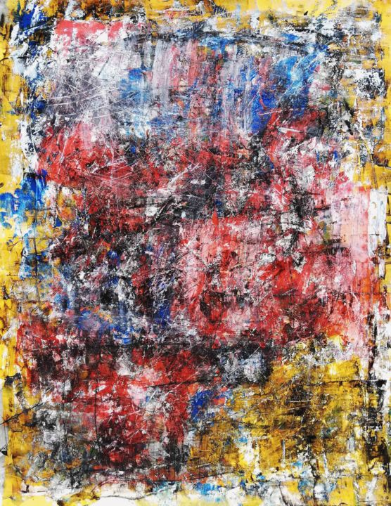 """Painting titled """"DIAFFRE"""" by Pascal Walter, Original Art, Acrylic"""