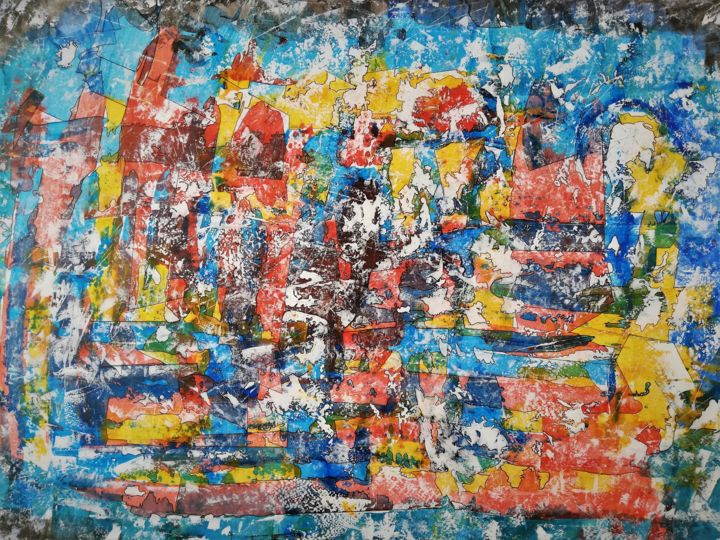 """Painting titled """"KIMBRE"""" by Pascal Walter, Original Art, Acrylic"""