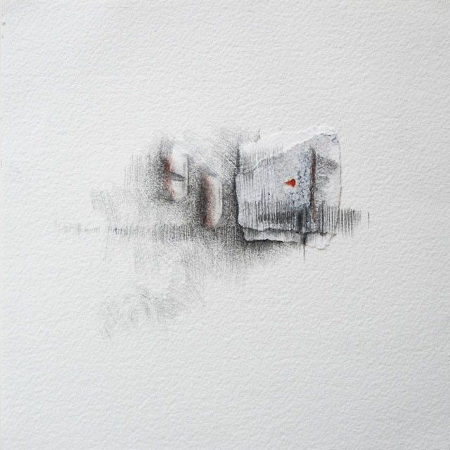 jour 28 - 24.11.2011 - Drawing,  7.9x7.9 in, ©2011 by Pascale Aurignac -                                                                                                                                                                                                                          Abstract, abstract-570, Abstract Art, jour 28 - 24.11.2011