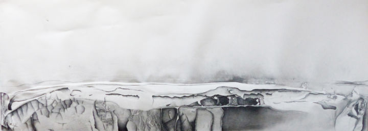 plan 2 - Drawing,  63x175 cm ©2015 by Pascale Aurignac -                        Contemporary painting