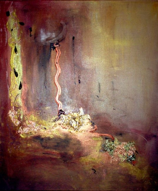 Terre d'Ames - Painting,  23.6x19.7 in, ©2007 by Pascaly -