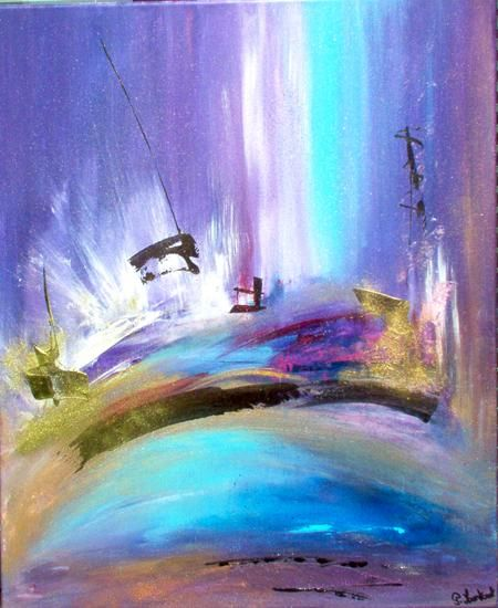 L'endroit sacré. - Painting,  24x19.7 in, ©2007 by Pascaly -