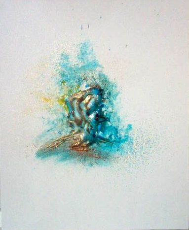 Tigre d'eau. - Painting,  18.1x15 in, ©2008 by Pascaly -