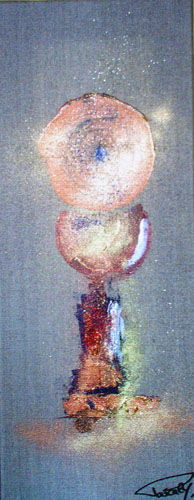 La coupe d'Abondance. - Painting,  19.7x7.9 in, ©2008 by Pascaly -