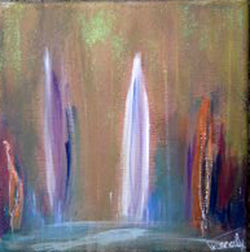 Imbolc 4. - Painting,  20x20 cm ©2013 by PASCALY -