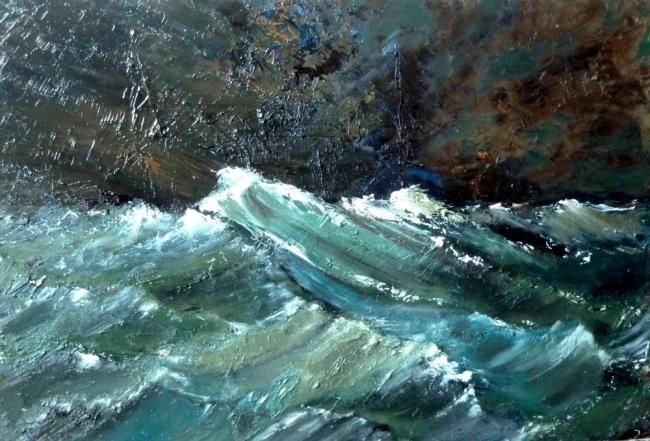 Iroise - Painting ©2011 by Pascale Gonzales -